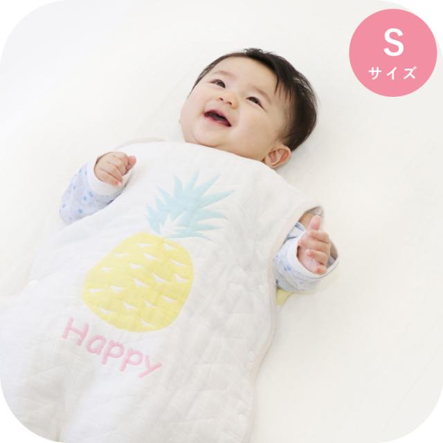 6重ガーゼスリーパー|Sサイズ(新生児~2歳頃まで) 洗える 日本製 トロピカル パイン