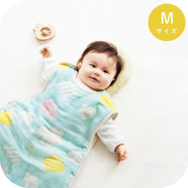 6重ガーゼスリーパー|Mサイズ(新生児~3歳頃まで) 洗える 日本製