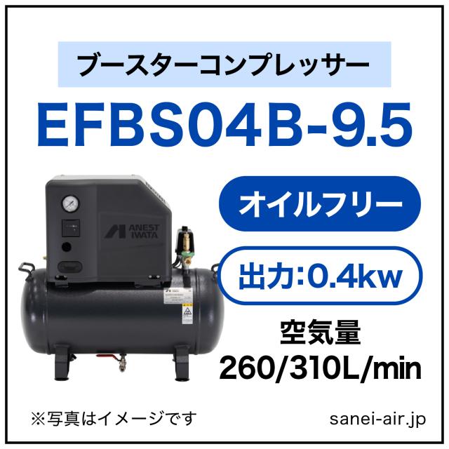 EFBS04-9.5|アネスト岩田・小型オイルフリーブースター0.4kw|三相200V