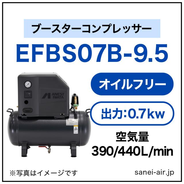 EFBS07-9.5|アネスト岩田・小型オイルフリーブースター0.75kw(1馬力)三相200V