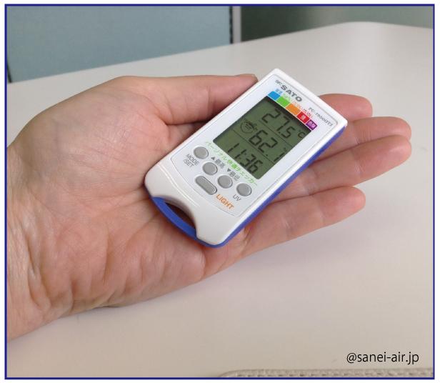 PC-7950GTI・温度・湿度・熱中症暑さ指数・佐藤計量器製作所