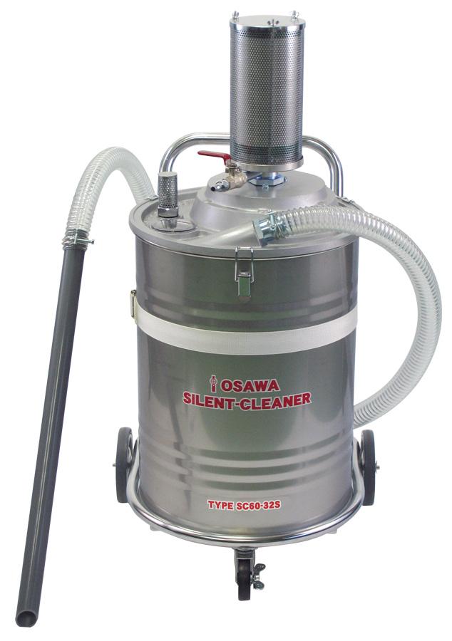 サイレントクリーナーSC60-32S(吸込用ホース内径32mm・60L・SUS缶付・集塵用)|オオサワ&カンパニー