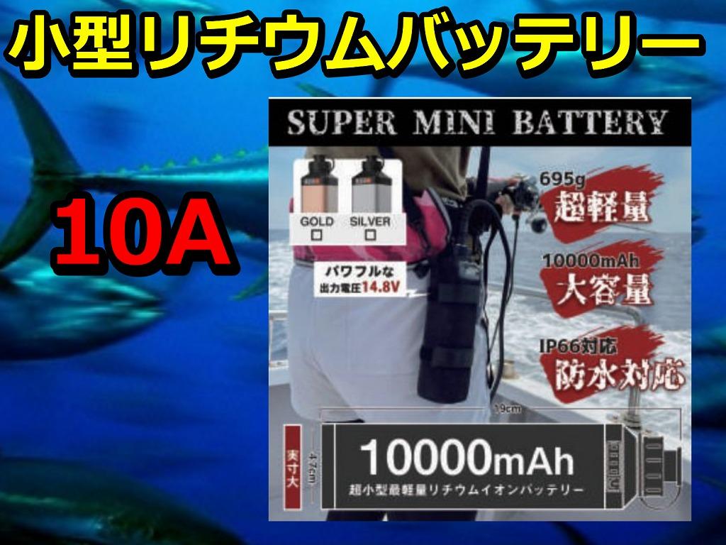 スーパーMINI リチウム バッテリー 10A   (充電器セット)  マグクルーズ