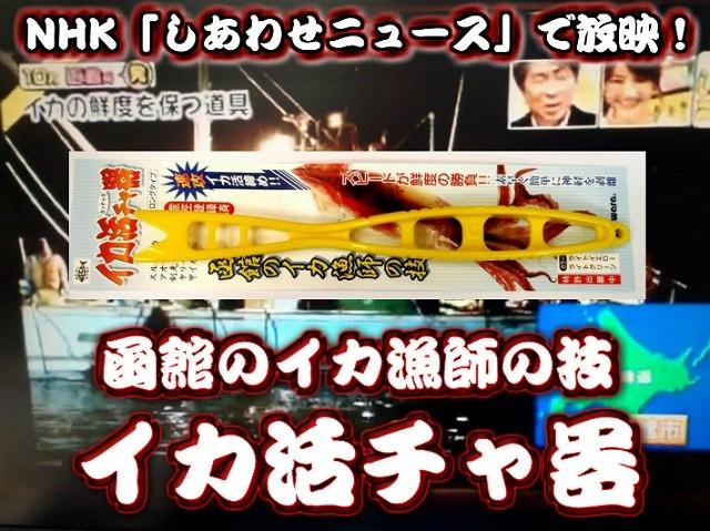 イカ活チャ器 (イカ活き絞め) 函館漁師のプロの技  NHKでもとりあげられた!これを使うと甘味が違う!コリコリ感が違う!