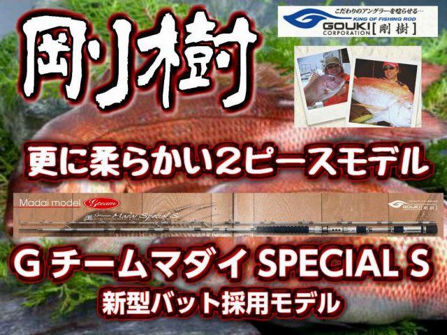 剛樹 Gチーム・マダイ SPECIAL S  300SP 2ピース最新チューブラーモデル! (送料無料)