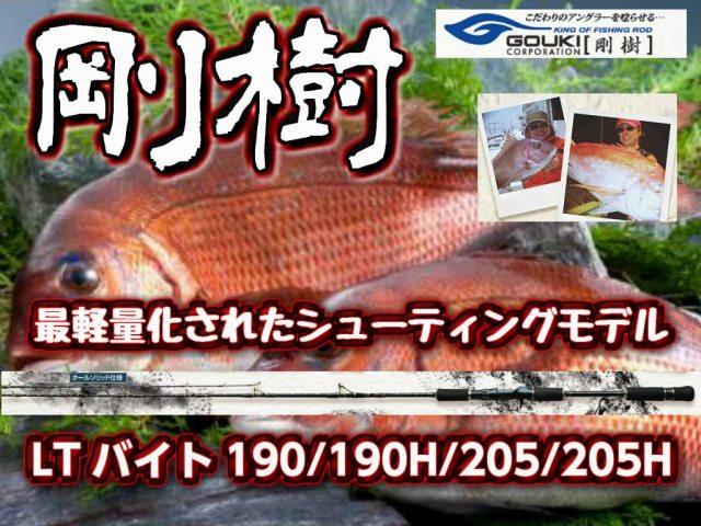 剛樹 LTバイト190/190H/205/205H 最軽量モデル 真鯛・甘鯛・イサキ・太刀魚 (送料無料)