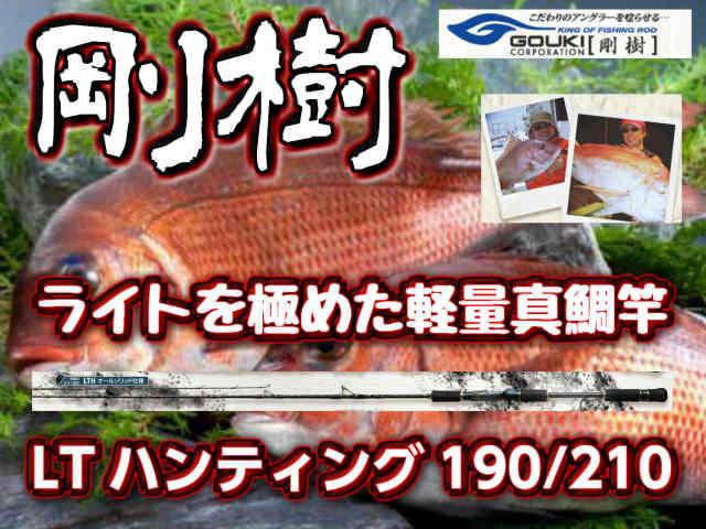 剛樹 LTハンティング190/210  近場の釣りはこれ1本でOK! 超軽量真鯛竿! (送料無料)