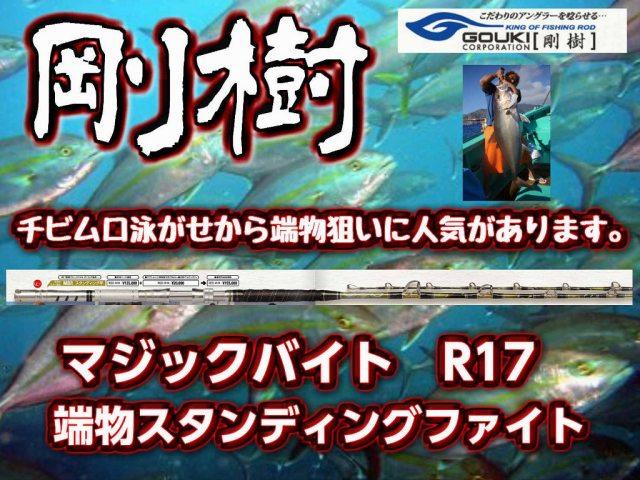 剛樹マジックバイト R17/ RR17/18 マジックバイト中、最も柔らかい竿です! (送料無料)