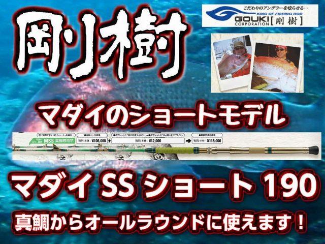 剛樹 マダイ・SSショート 190 真鯛からオールラウンドにつかえます! (送料無料)