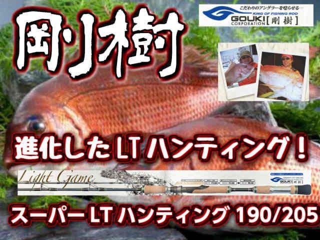 剛樹 スーパーLTハンティング190/205  青物まで対応できる超軽量真鯛竿! (送料無料)