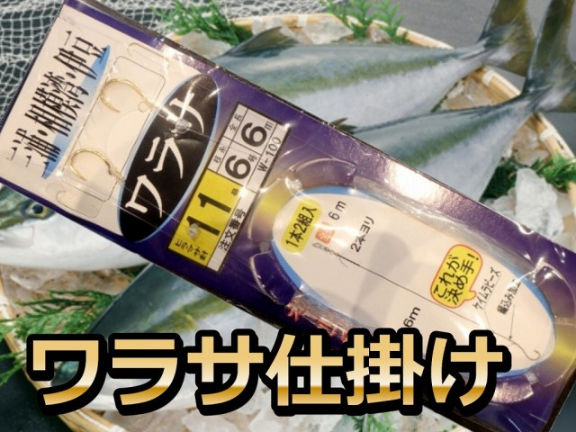 ワラサ仕掛け 6/8号 4ヒロ(6m)  東京湾・相模湾 ワラサ用 PLUS1海の駅