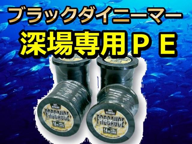 深場専用PE  ブラックダイニーマー 新素材 フグなどによる高切れ防止!  ※代引き不可 ※中型 個別送料対応商品