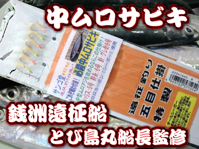 必殺!中ムロサビキ(サンゴ堂たけ店長考案) 銭洲では年間通して一番使うムロアジ用のサビキです!