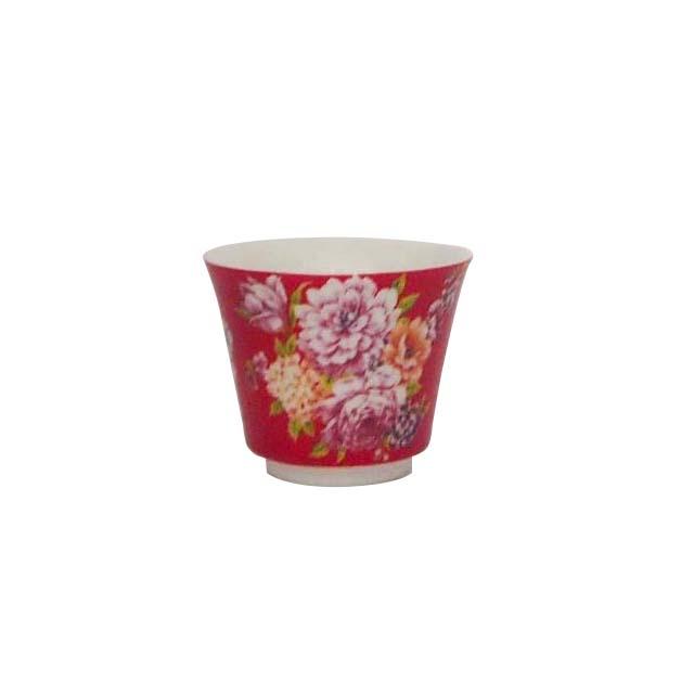茶杯/牡丹(赤)