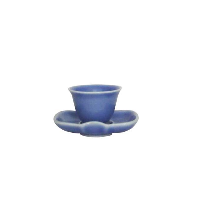 茶杯・茶托セット (ブルー)