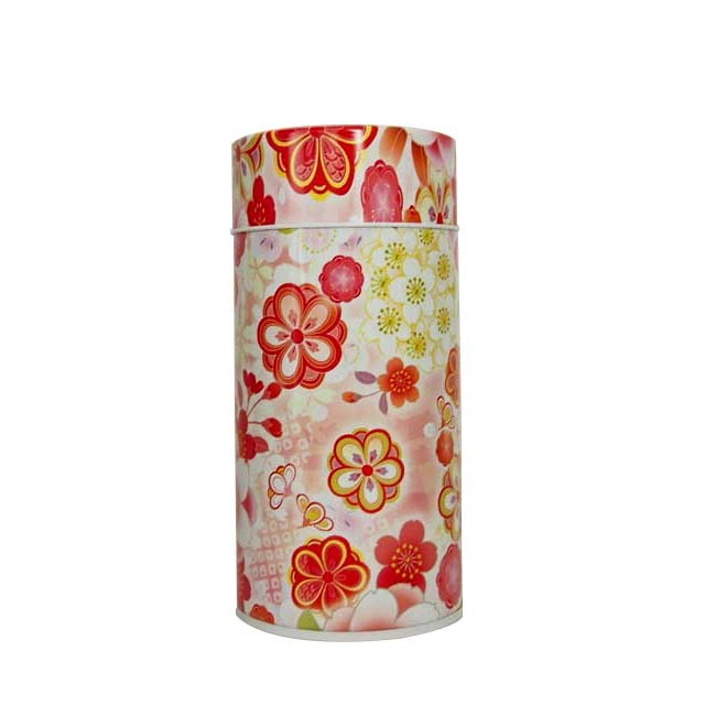 花想い/茶缶 (赤)