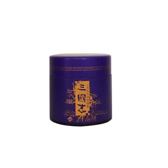 三国志オリジナルロゴ入り缶 (紫)