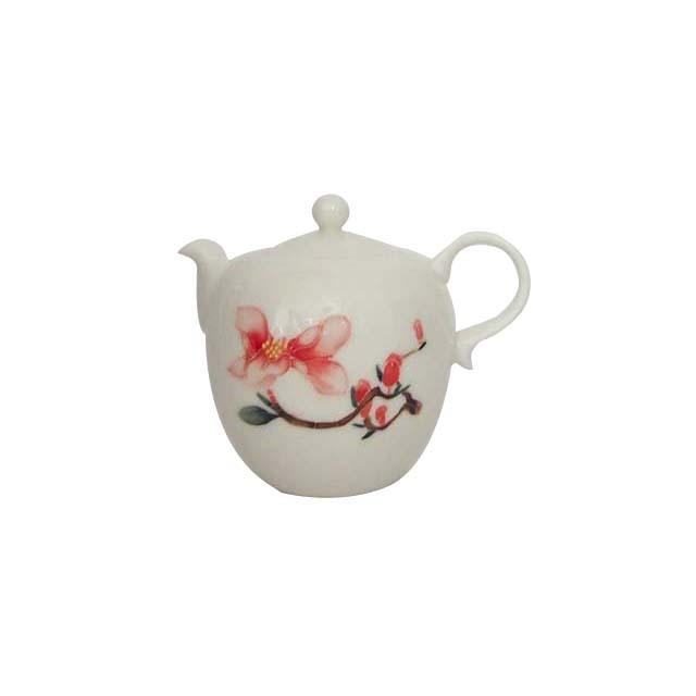 茶壺/磁器 (花)