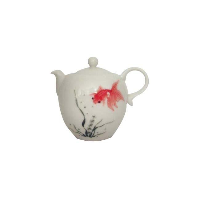 茶壺/磁器(金魚)