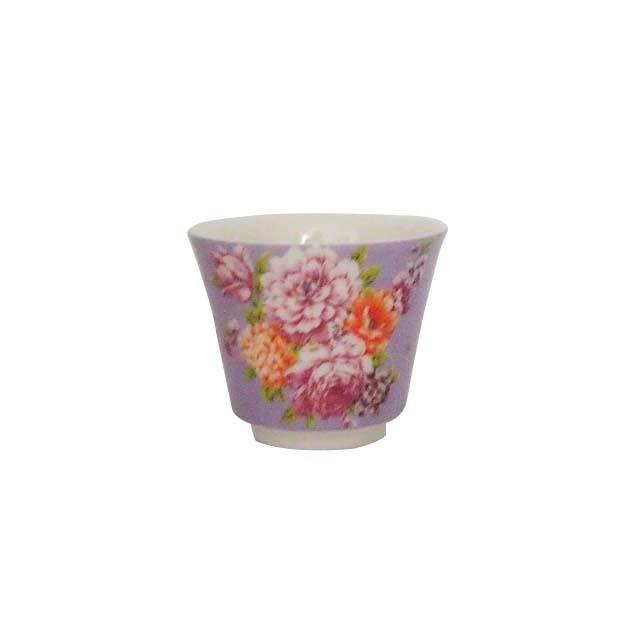 茶杯/牡丹(紫)