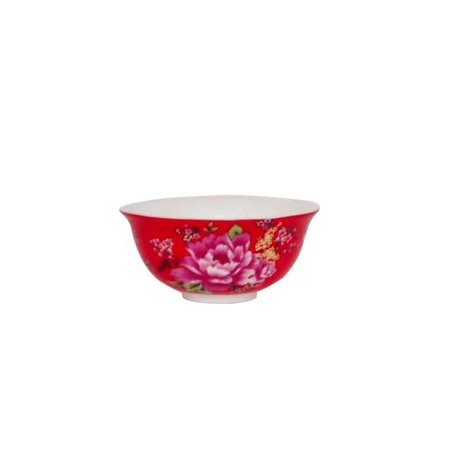 茶杯/牡丹 (赤)