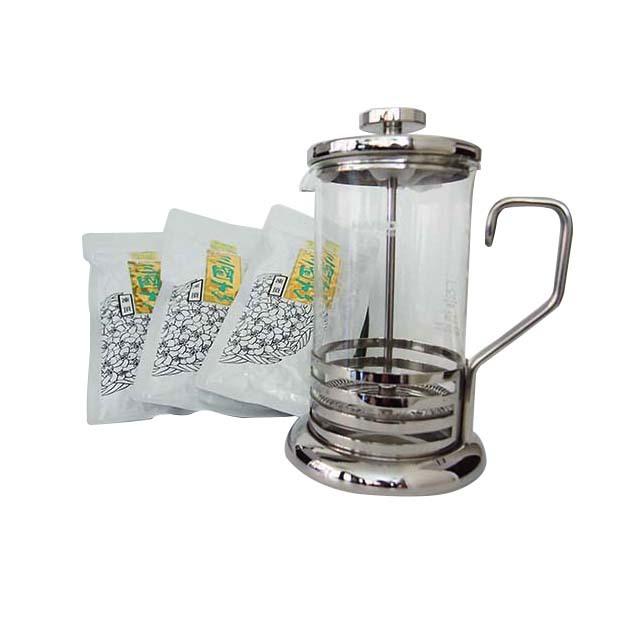 ティーサーバー&凍頂烏龍茶(茶葉)簡単お手軽セット(ティーサーバー600ml・茶葉100g×3)