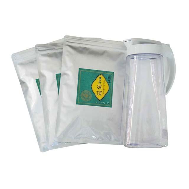 耐熱ティーポット&濃い味凍頂烏龍茶(ティーバッグ)簡単お手軽セット(ティーバッグ4g×40パック×3)