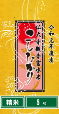 令和元年度産仏大寺(ぶっだいじ)観音霊水米コシヒカリ5kg(精米)