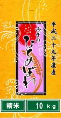 平成29年度産山手のひとめぼれ10kg(精米)