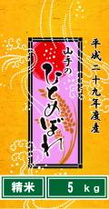 平成29年度産山手のひとめぼれ5kg(精米)