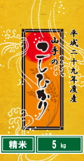 平成29年度産山手(やまて)のコシヒカリ5kg(精米)