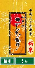 平成30年度産山手(やまて)のコシヒカリ5kg(精米)