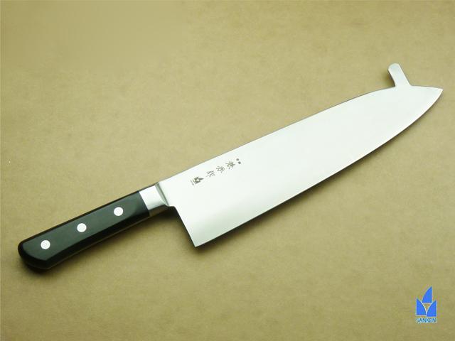 2165 兼秀作 口金付 巾広牛刀(止付) 300mm