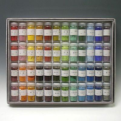 【絵具屋三吉セレクト】日本画用岩絵具48色いろがさねセット(10番・12番)