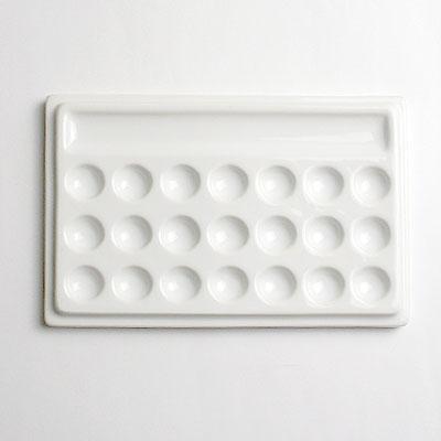 白磁21穴皿 18×12cm