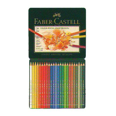 ファーバーカステル ポリクロモス油性色鉛筆 24色セット(缶入)