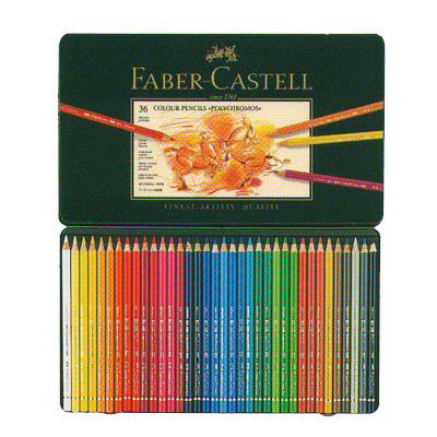 ファーバーカステル ポリクロモス油性色鉛筆 36色セット(缶入)