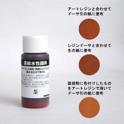 濃縮水性顔料 茶 30ml