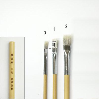 金泥用平筆(0) 平塗用  清晨堂製