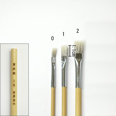 金泥用平筆(1) 平塗用  清晨堂製
