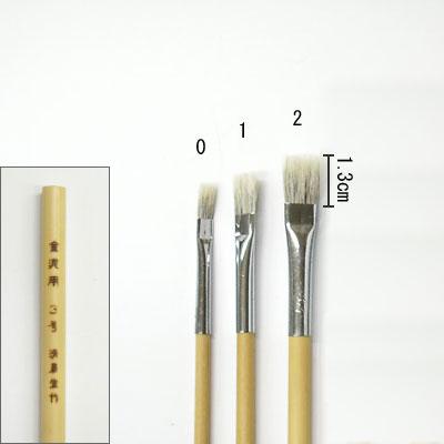 金泥用平筆(2) 平塗用  清晨堂製