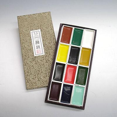 上羽絵惣 角顔彩12色セット(特製品)