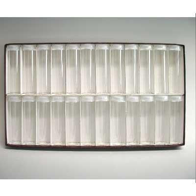 ガラス管絵具瓶 24本セット(ラベルシール付属・箱入り)