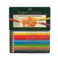 ファーバーカステル ポリクロモス油性色鉛筆 12色セット(缶入)