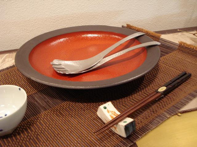 若尾洋造 宗山窯 赤の器 陶器