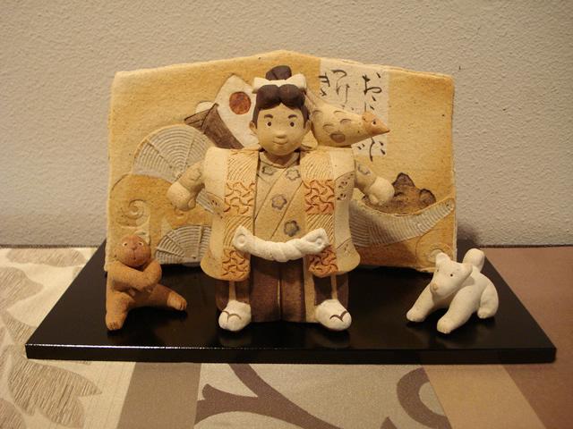 陶人形作家 滝上真由美 常滑 五月人形 節句