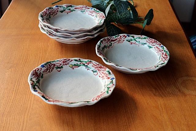 榛澤宏 赤絵 5.5寸皿 取り皿