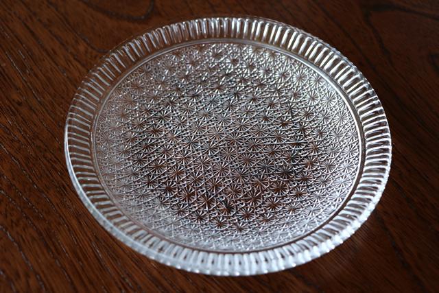 ガラス皿 中皿 水崎ガラス 雅 フルーツ皿 CR