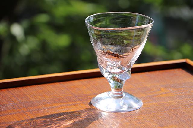 早崎勲 吹きガラス 三角ワイングラス