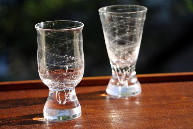 ガラス猪口 冷酒グラス 食前酒 早崎勲 吹きガラス